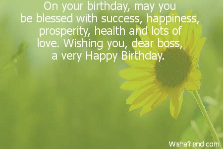 Birthday Wishes For Health And Happiness Happy Birthday Wishes For Boss Female Quotes Quotesgram