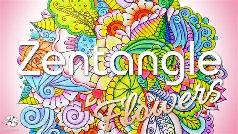 why doodle flowers colored pencil tutorial gradient doodle flowers