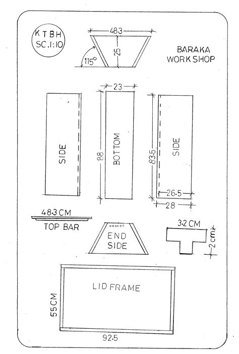 top bar beehive plans images