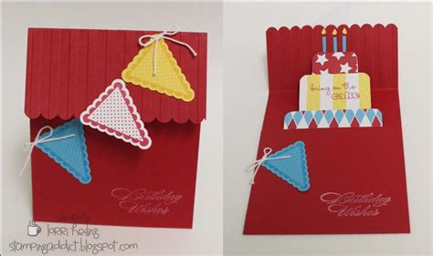pattern pop up card birthday birthday cake pop up card video tutorial confessions of
