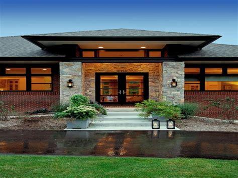 Prairie style exterior doors, contemporary craftsman style