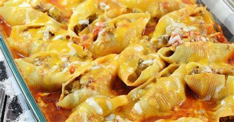 mexican bathtub cheese mexican stuffed shells filled with a ground beef and