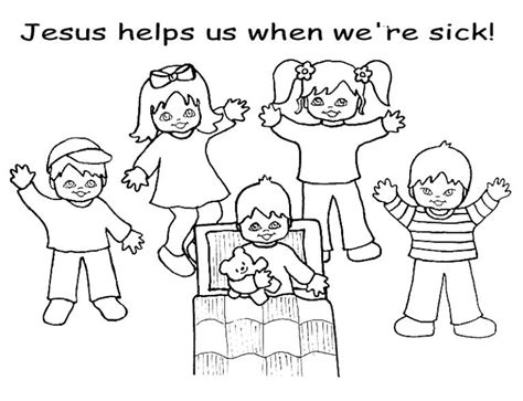 coloring page jesus healing sick free jesus heals us coloring pages