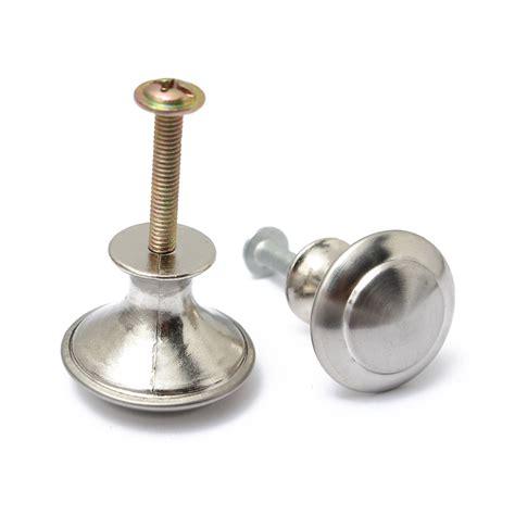 1 2 4 pcs stainless steel satin nickel kitchen cabinet 1 2 4 x stainless steel satin nickel cabinet round pull