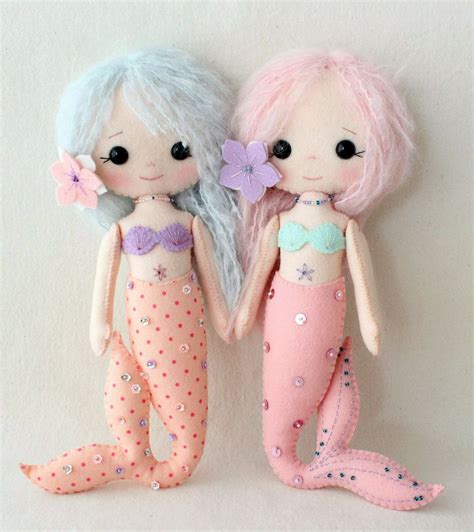 Handmade Rag Dolls Patterns - gingermelon dolls chibi and mermaids