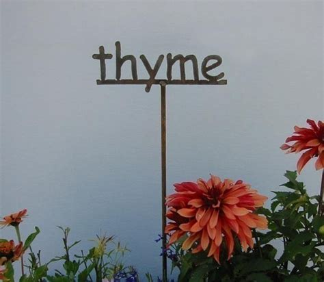 Metal Herb Garden Signs metal garden sign marker for herbs herb sign for the garden