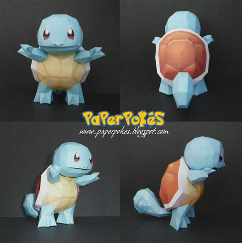 Squirtle Origami - papercraft squirtle by paperbuff on deviantart