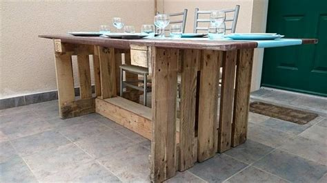 dining table from pallets recycled pallet dining tables pallet wood projects
