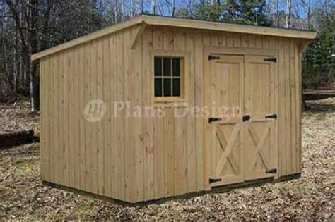 modern storage lean  garden shed plans