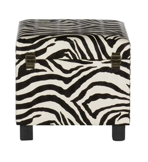 zebra print storage ottoman top 8 modern leather ottomans with storage cute furniture