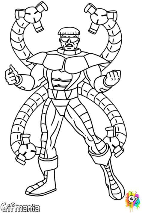 free spiderman dr octopus coloring pages