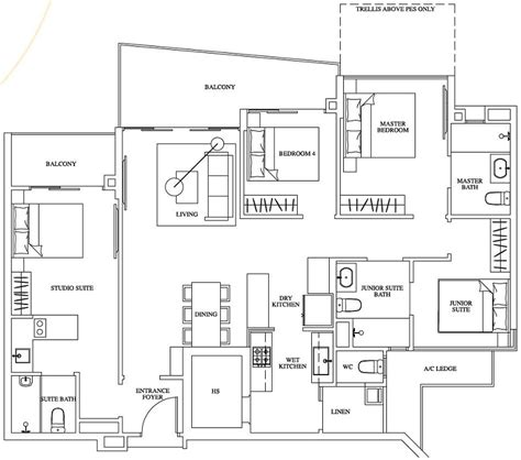 100 waterfront key floor plan two pricey bed stuy one canberra ec new launch floor plan 4 bedroom dual