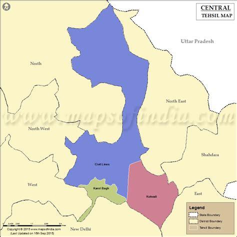 central delhi tehsil map