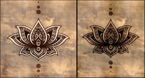 henna style lotus tattoo henna lotus design makedes