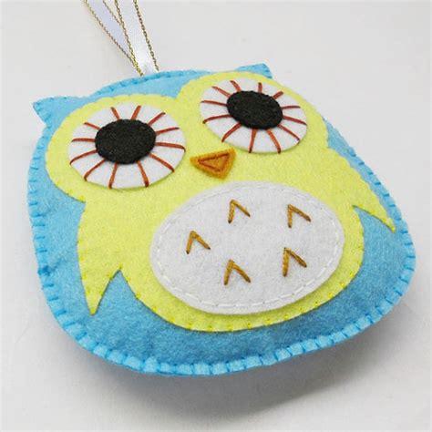 Handmade Owl Ornaments - felt owl ornament handmade decoration by