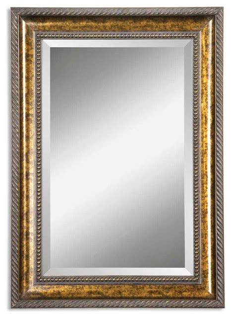 Gold Bathroom Mirrors Uttermost Sinatra Gold Vanity Mirror Traditional Bathroom Mirrors By Uttermost