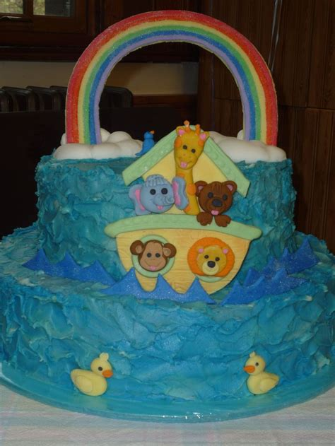 Noah S Ark Baby Shower Decorations by Noah S Ark Baby Shower Cake Buttercream With Fondant