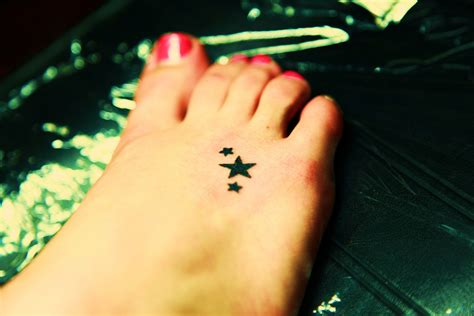 small star foot tattoos archives tattoo fonts for women