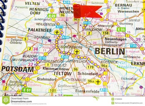 berlin on map of germany berlin on the map of germany stock image image 37386859