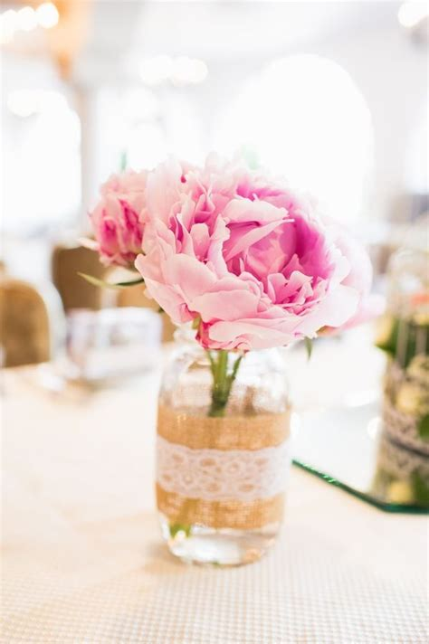 10 Super Romantic Peony Centerpieces   mywedding