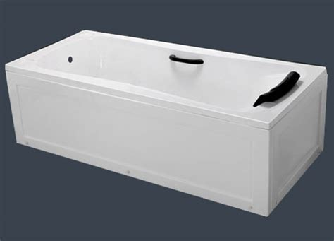 bathtub with apron modern apron acrylic bathtub with pu handles pillow