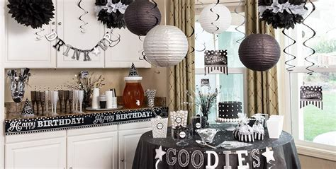 black and white decorations black white birthday supplies city