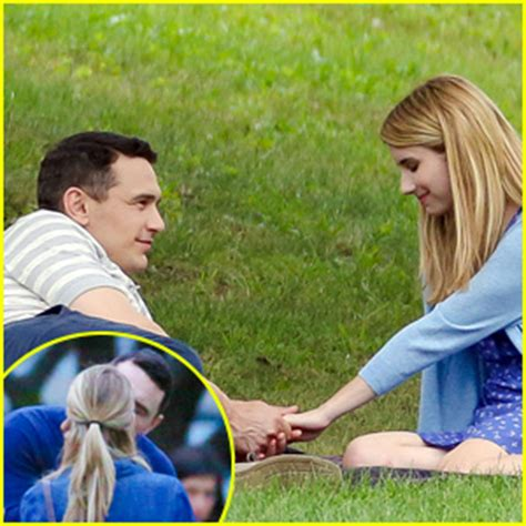 emma roberts james franco film emma roberts makes out with james franco for their