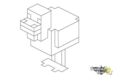 minecraft coloring pages chicken how to draw chickens from minecraft drawingnow