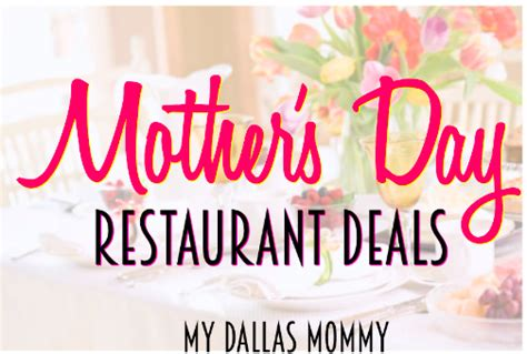 Dallas Restaurant Gift Cards - mother s day restaurant deals discounts on gift cards
