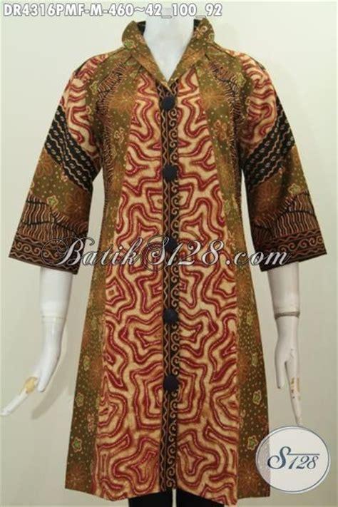 Dress Batik Cap Bantulan Kombinasi Ukuran M Berlapis Trikot produk pakaian dress batik motif klasik buat wanita karir usia muda baju batik etnik