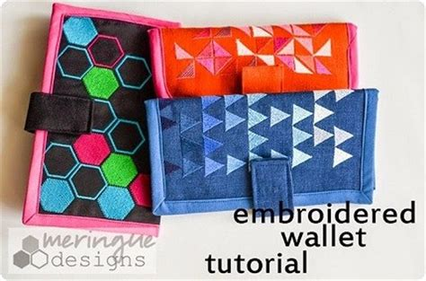 tutorial wallet fabric tutorial embroidered fabric wallet sewing