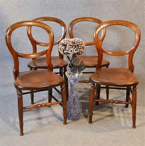 set 4 balloon back country kitchen dining chairs