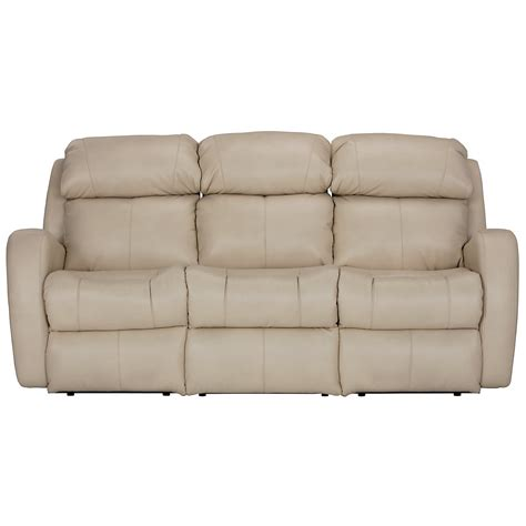 city furniture finn lt beige microfiber reclining sofa