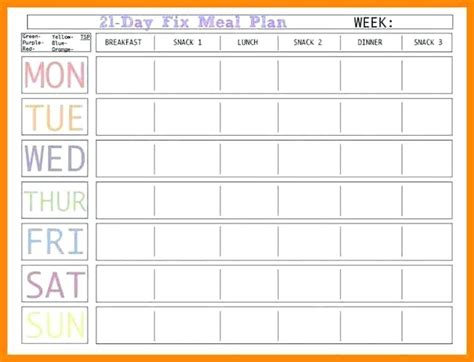 Meal Plan Template Excel Virtuart Me Meal Plan Exles Templates