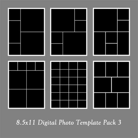17 Best Images About Photobooks Layouts Photos Collage And Etsy 2 Picture Collage Template