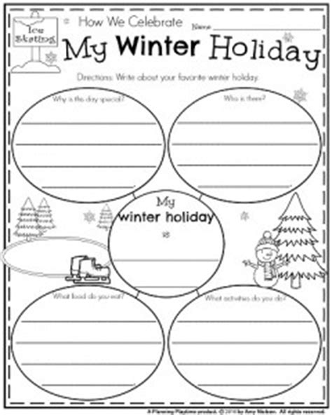 What I Did On My Winter Vacationday One Decembe Snarkspot by Grade Writing Prompts For Winter Planning Playtime
