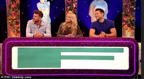 celebrity juice last week mark wright gifted sex toy to spice up michelle keegan