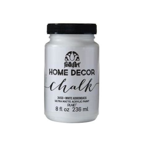 chalk paint home depot folkart home decor 8 oz white adirondack ultra matte