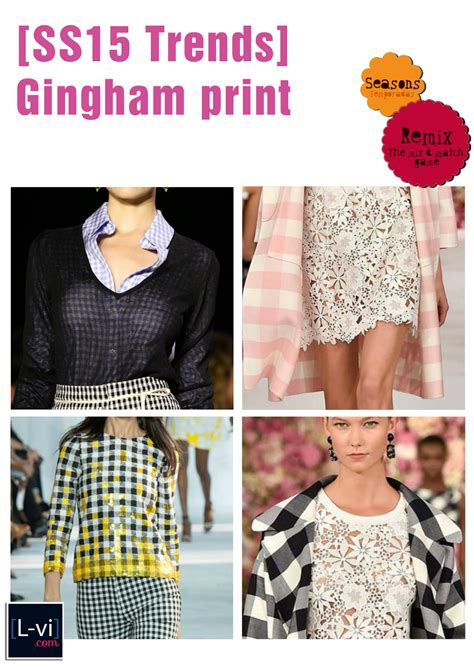 Opa Gingham Style ss15 trends tendencias gingham print