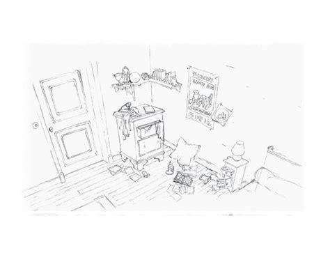 dessin chambre d enfant coloriages coloriage de la chambre d ernest fr hellokids com