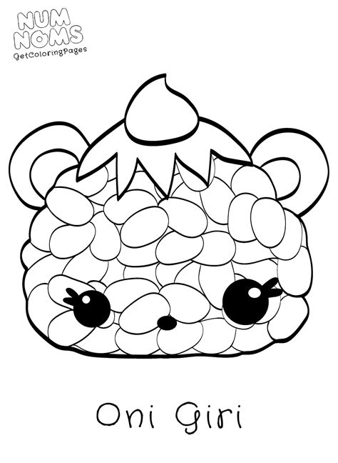 Coloring Page Num Noms by Num Noms Coloring Pages To Print Coloring Pages