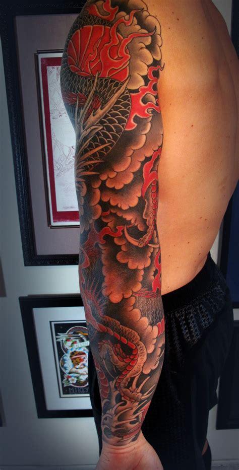 japanese dragon tattoo sleeve designs chris garver designs search