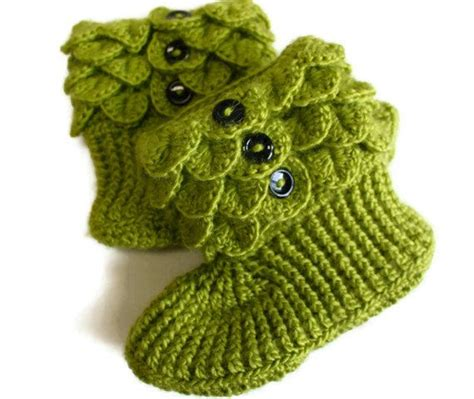 crochet crocodile slippers free pattern crochet crocodile slipper boots in green by