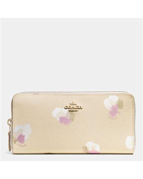 Coach Floral Zip Wallet coach accordion zip wallet in floral print coated canvas