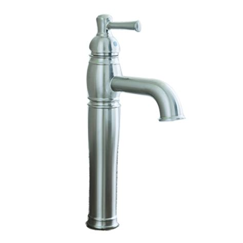 single hole bathroom faucet brushed nickel shop aquasource kensett brushed nickel 1 handle single