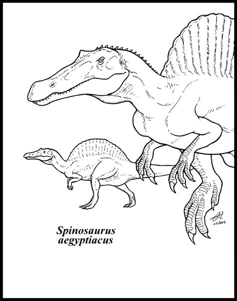 t rex vs spinosaurus coloring pages