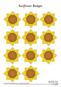Sunflower Badges