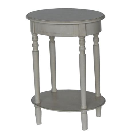 shop decor therapy simplify antique white oak end table at