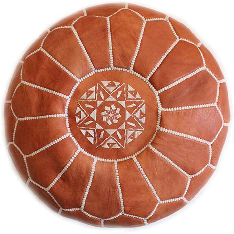 Handmade Pouf - leather pouf moroccan handmade pouf footstool