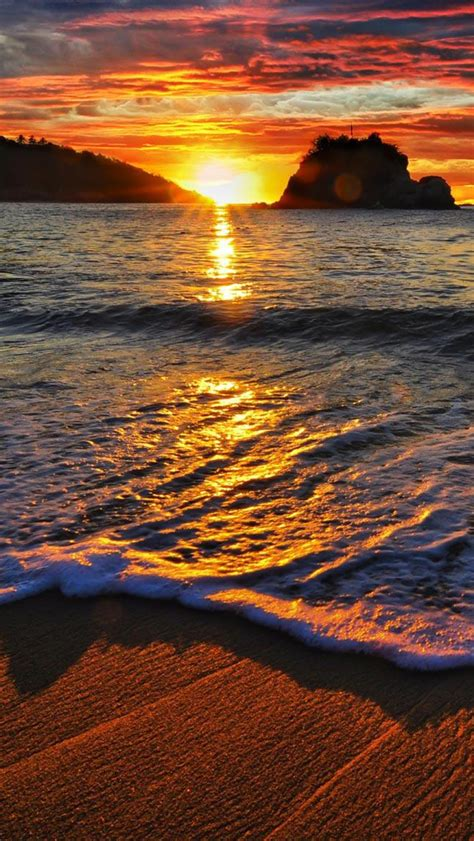 wallpaper for iphone sunset free download ocean beach sunset hd iphone 5 wallpapers
